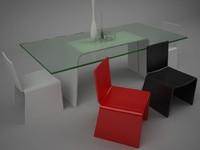 egos table eleonora chair 3d max
