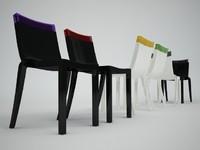 3d kartell hi cut chair model