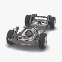 3d suv chassis frame 3