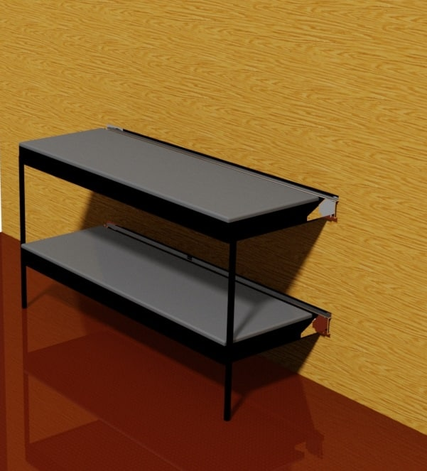 Wall mounted bunk bed dwg for Wall mounted loft bed plans