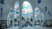 3d model hotel hall interiors