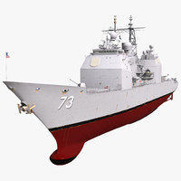 3d uss port royal cg-73 model