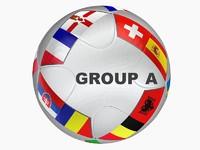 3d euro 2016 teams ball