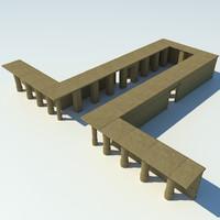 temple ancient 3d max