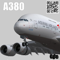 games asiana airlines livery 3d 3ds