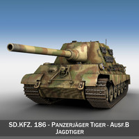 sd kfz 186 tiger ii 3d model