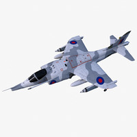 hawker siddeley harrier gr3 3d model