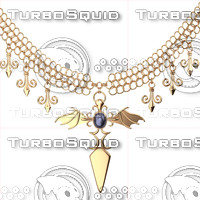 3d necklace model
