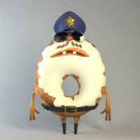 ranger cop guy 3d obj