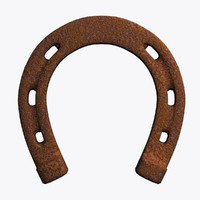 3d model of old horseshoe