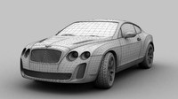3d model bentley continental 2010