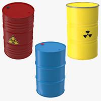 3d barrels steel oil