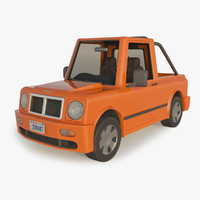 cartoon car pickup 3d max