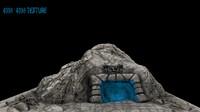 cave enterance 3d model
