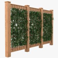 garden trellis 2 3d max