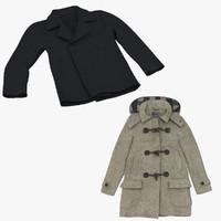 winter coats 3d model