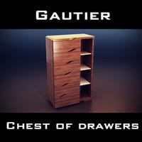 gautier dolce tall chest 3d 3ds