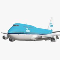 boeing 747 400 klm 3d model