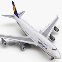 max boeing 747-400 lufthansa