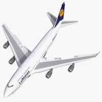 3d max boeing 747 400 lufthansa