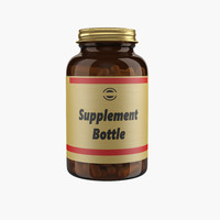 supplement bottle 3d max