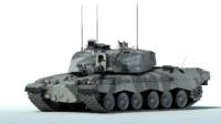 3d max challenger 2 mbt tank