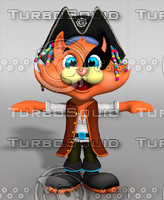 3d model cat cartoon