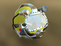 diving helmet 3d obj