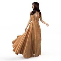 summer dresses 3d model