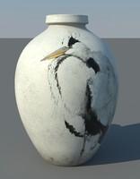 3d ancient vase