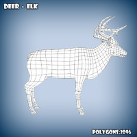 3d model base mesh elk deer