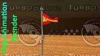 3d model flag animation