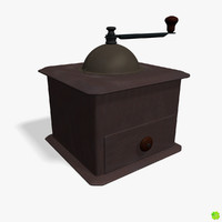 Coffee grinder low poly