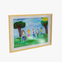 3d model childrens wood frame