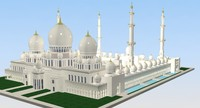 3d sheikh zayed mosque model
