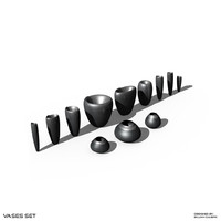 vases set obj