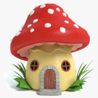 cartoon mushroom house max