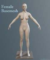 female sculpting 3d obj