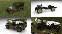 military jeep willys hdri 3d obj