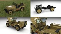 3d model military jeep willys hdri