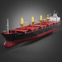 bulk carrier ship 3d max