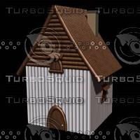 c4d house wood