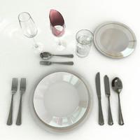 cutlery forks spoon 3d obj