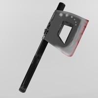 battle axe 3d max
