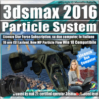 3ds max 2016 Particle System e Particle Flow Subscription 2 Computer