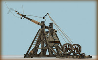 3d model of trebuchet museum exhibit
