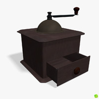 Coffee grinder rigged low poly