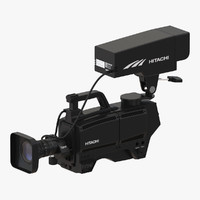 3d tv studio camera hitachi