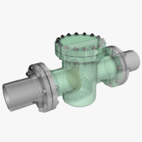 non-return valve 2 3d model