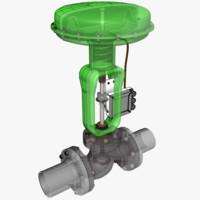 3d model of control valve 1